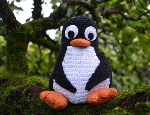 Tux virkad pingvin